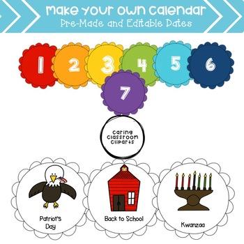 Make Your Own Calendar - Rainbow