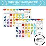 Make Your Own Calendar - Rainbow