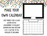 Make Your Own Calendars! (great for distance learning)