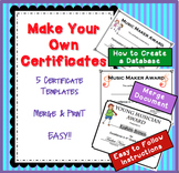 How to Make Your Own Music Certificates