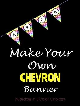 Make Your Own Chevron Banner
