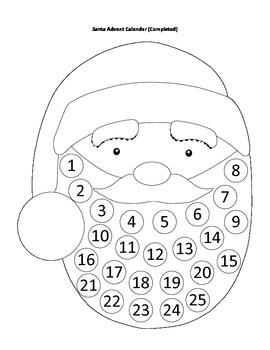 DIY Christmas Advent Calendar- Differentiated Versions for All Skill Levels