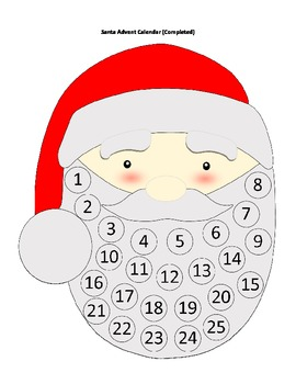 DIY Christmas Advent Calendar- Differentiated Versions for
