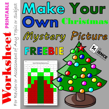 Make Your Own Christmas Mystery Picture Worksheet for Any Topic or Subject