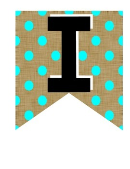 Banner -Make Your Own Classroom Decore {Burlap & Bright Blue}