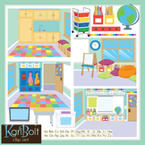 Make Your Own Classroom Scenes Clip Art