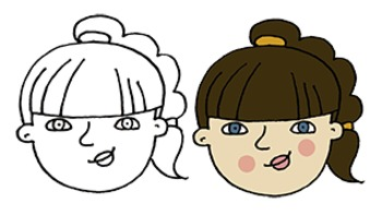 Make Your Own Clip Art: Caucasian Girl
