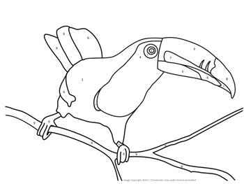Make Your Own Color By Number Animals (Editable Template)
