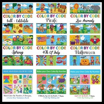 Make Your Own Color By Number Bundle 1 (9 Sets)
