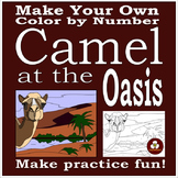 Make Your Own Color By Number Camel at the Oasis (Biomes Series #2)