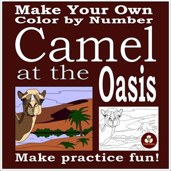Make Your Own Color By Number Camel at the Oasis (Biomes S