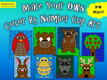 Make Your Own Color By Number Clip Art Collection 2-Commercial Use