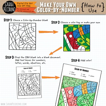 Make Your Own Color-By-Number Clip Art - MATH