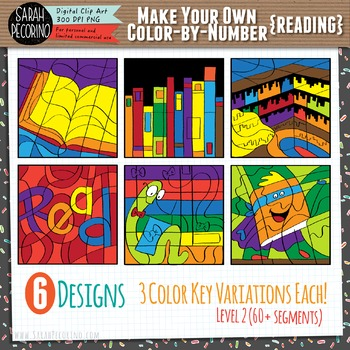 Make Your Own Color-By-Number Clip Art - READING