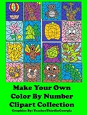 Make Your Own Color By Number Clipart Collection-16 Images-Commercial Use