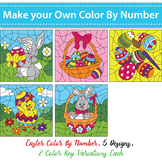Make Your Own Color By Code Easter Set