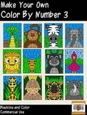 Make Your Own Color By Number-Set 3- Wild Things-Commercial Use Graphics