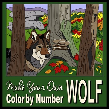 Make Your Own Color By Number Wolf (Biomes Series #4) by ...