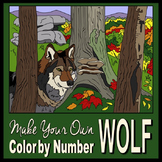Make Your Own Color By Number Wolf (Biomes Series #4)