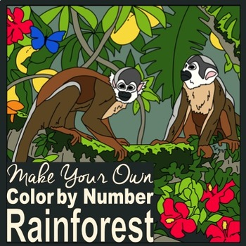 Make Your Own Color by Number Rainforest