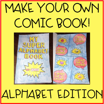 Alphabet Letter Sounds Mini Book Activity for Kindergarten - Make Your Own Comic