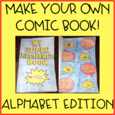 Alphabet Letters Hands on Activity - Make Your Own Comic Book