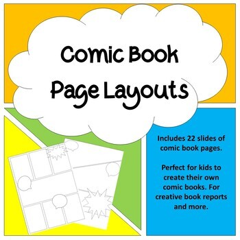 Make Your Own Comic Book - Comic Book Pages