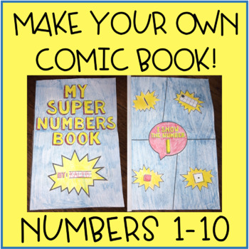 Number Sense 1-10 Activity - Make Your Own Comic Book