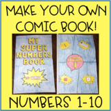 Numbers 1-10 Cut and Paste Activity Make Your Own Comic Book!