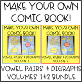 Vowel Digraphs and Diphthongs Mini Book Activity - Make Your Own Comic BUNDLE