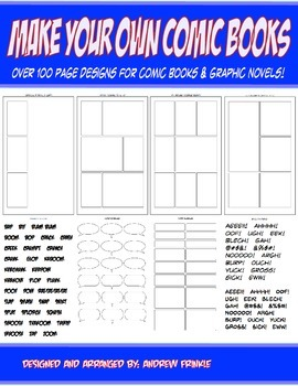 Make Your Own Comic Books - Page Design Templates and Tool