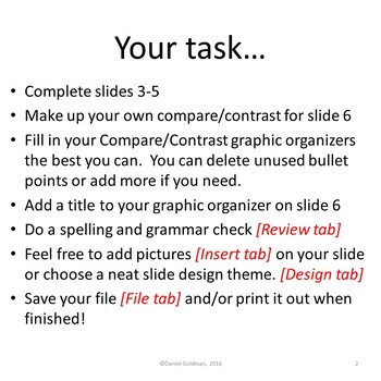 Make Your Own Compare Contrast Using Microsoft PowerPoint