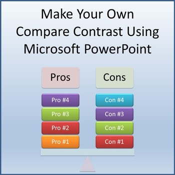 Make Your Own Compare Contrast Using Microsoft PowerPoint 2013