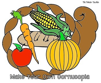 Make Your Own Cornucopia (Color and Cut)