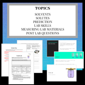 Make Your Own Crystal Lab & Ppt: Exploring Solvents & Solutes