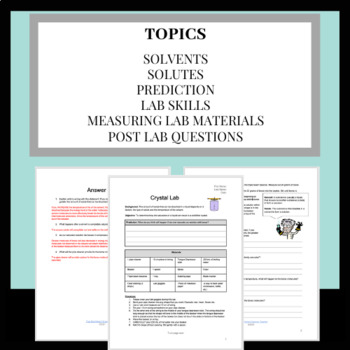 Make Your Own Crystal Lab Report: Exploring Solvents and Solutes