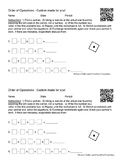Make Your Own Custom Order of Operations Worksheet