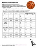 Make Your Own Dream Team - March Madness Fractions, Decima
