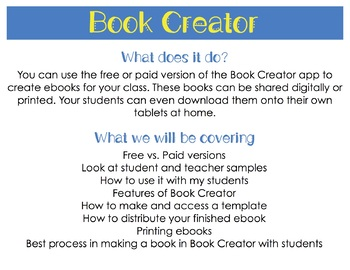 Make Your Own Ebook Using the Book Creator App