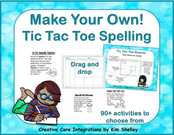 Make Your Own Editable Tic Tac Toe Spelling