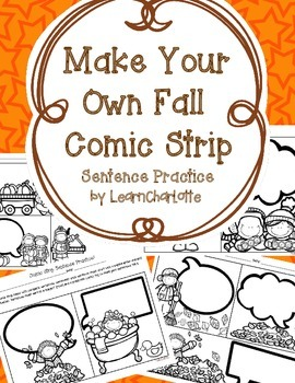 Make Your Own FALL Comic Strip {Sentence Practice}
