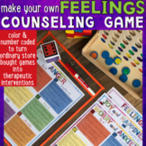 Make Your Own FEELINGS & COPING SKILLS Counseling Game: Joy, Anger & Anxiety