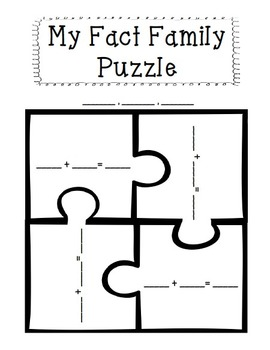 Make Your Own Fact Family Puzzle