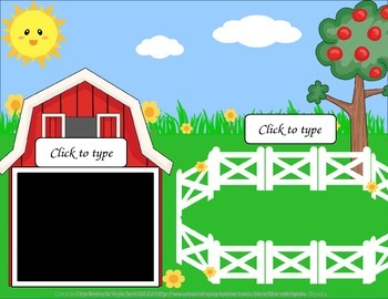 Make-Your-Own Farm-Themed Sorts: Editable Mat, Pieces & Recording Sheet