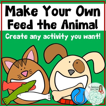 Create Your Own Feed the Animal: Cat and Dog