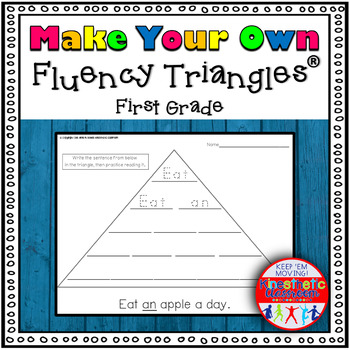 Make Your Own Fluency Triangles ®: First Grade Edition