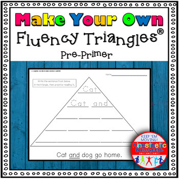 Reading Fluency Activity - Make Your Own Fluency Triangles