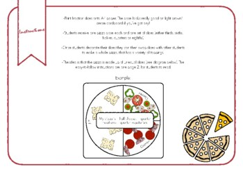 Make Your Own Fraction Pizza