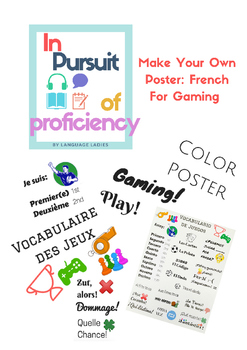 Make Your Own French Gaming Vocabulary Poster