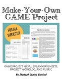 Make-Your-Own Game Project - Any Subject